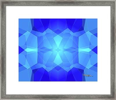 Bead Morphs Geometric Design #122 Framed Print by Barbara Tristan