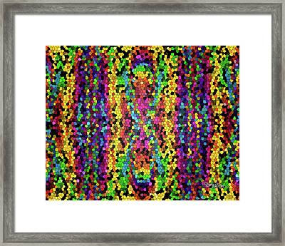 Bead Morphs Stained Glass #133 Framed Print by Barbara Tristan