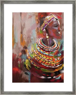 Beaded Beauty 451 I Framed Print by Mawra Tahreem