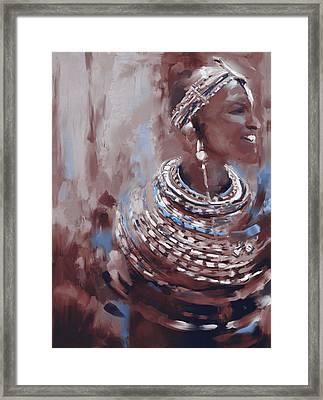 Beaded Beauty 451 Iv Framed Print by Mawra Tahreem