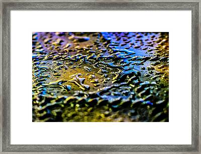 Beaded Water Texture Framed Print