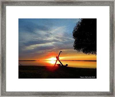 Beadles Point Sunset Framed Print