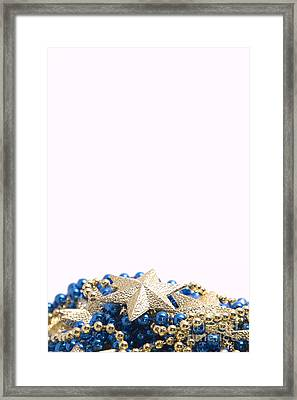 Beads And Stars Pt Framed Print by Andy Smy