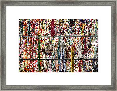 Beads In A Window Framed Print