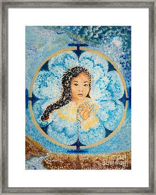Flying Lamb Productions.        Beads Of Life Framed Print