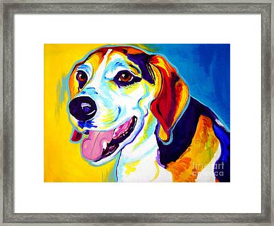 Beagle - Lou Framed Print by Alicia VanNoy Call