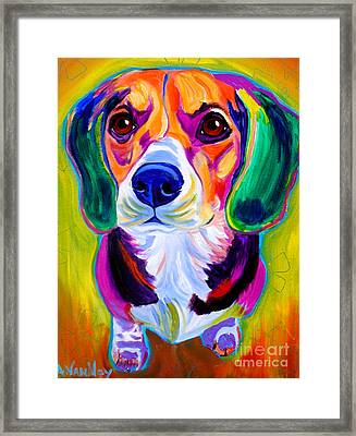 Beagle - Molly Framed Print
