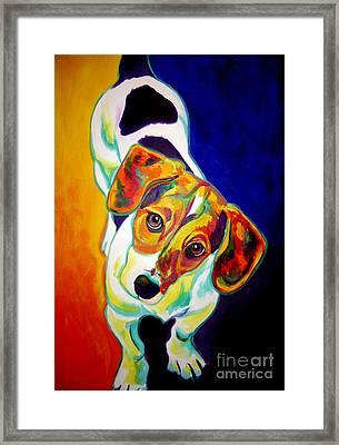 Beagle - Scooter Framed Print