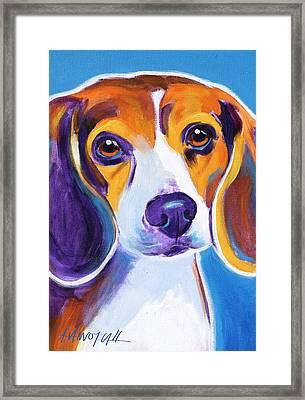 Beagle - Badger Framed Print