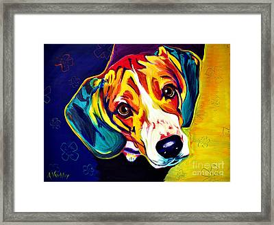 Beagle - Bailey Framed Print by Alicia VanNoy Call