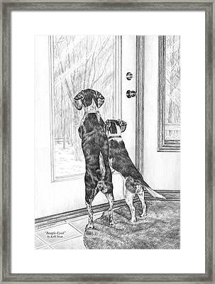 Beagle-eyed - Beagle Dog Art Print Framed Print