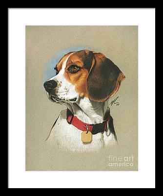 Dog Sketch Framed Prints