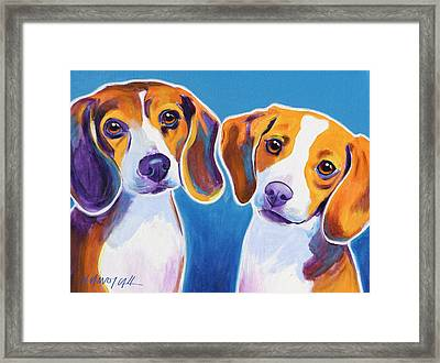 Beagles - Littermates Framed Print