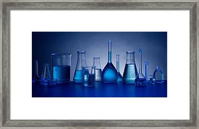 Beakers Framed Print