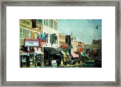 Beale Street Blues Framed Print by Suzanne Barber