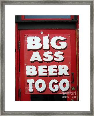 Beale Street Sign Framed Print