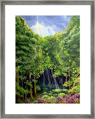 Beaming In Framed Print by Sharon Marcella Marston