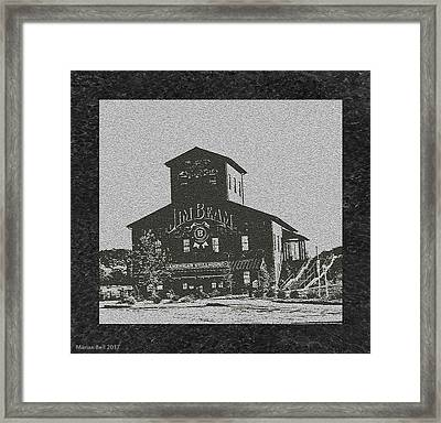 Beam's American Stillhouse In Black And Grey Framed Print