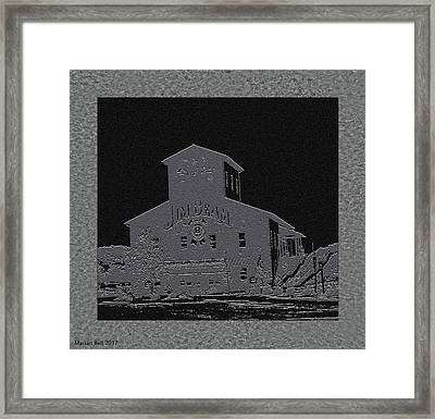 Beam's American Stillhouse In Grey And Black Framed Print
