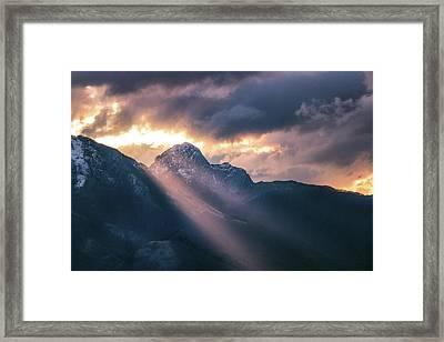 Beams Of Fire Framed Print