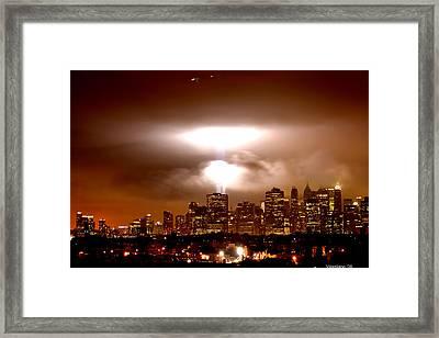 Beams Of Light  Framed Print by Brian  Vitagliano