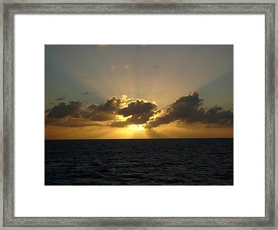 Beams Over The Pacific Framed Print by Jennifer Compton