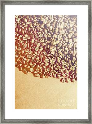 Bean Background With Coffee Space Framed Print by Jorgo Photography - Wall Art Gallery