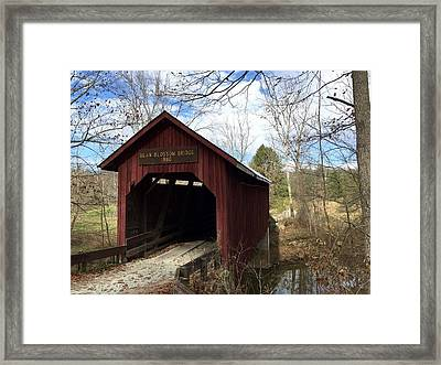 Bean Blossom Bridge, 1880 Framed Print by Russell Keating