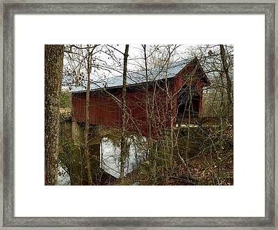 Bean Blossom Bridge Framed Print