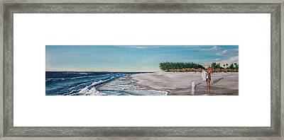 Bean Point  Framed Print