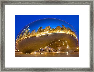 Bean Reflections Framed Print