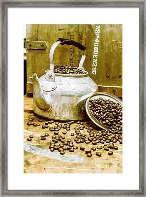 Bean Shop Cafe Framed Print