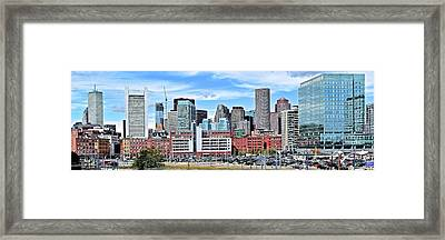 Bean Town Pano Framed Print by Frozen in Time Fine Art Photography