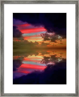 Beaneath The Dark Clouds Framed Print