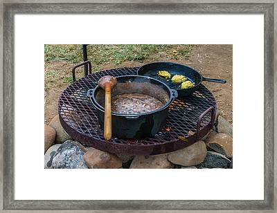 Beans And Cornbread Framed Print by Daniel LaFollette