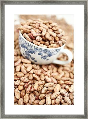 Beans In A Cup Framed Print by Gaspar Avila