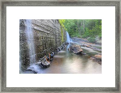 Bean's Mill Dam On Halawaka Creek Framed Print