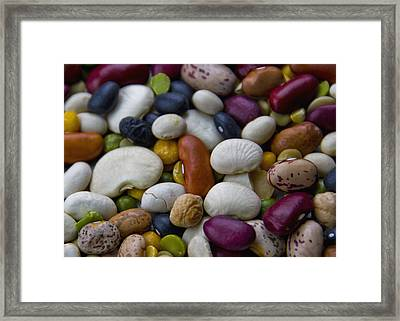 Beans Of Many Colors Framed Print
