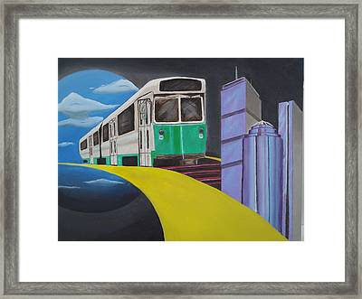 Beantown Transit Framed Print by Michael Holmes