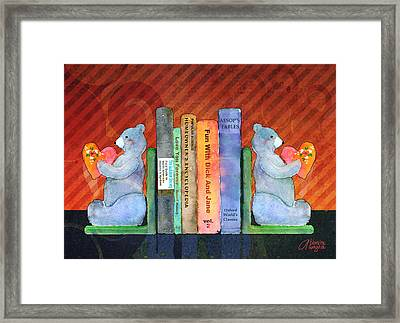 Bear Bookends Framed Print by Arline Wagner