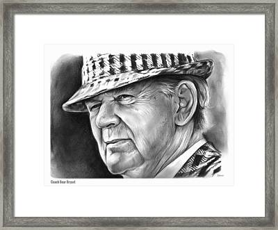 Bear Bryant Framed Print by Greg Joens