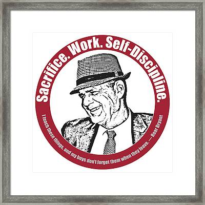 Bear Bryant Quote Framed Print by Greg Joens
