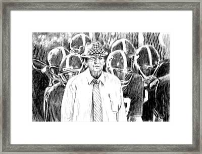 Bear Bryant With Players  Framed Print