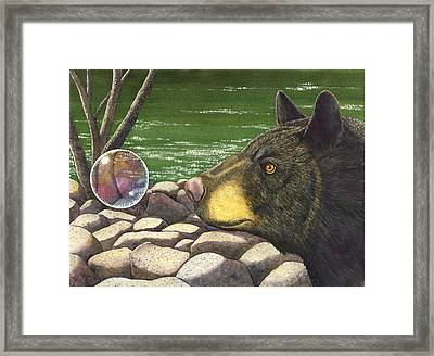 Bear Bubble Framed Print by Catherine G McElroy