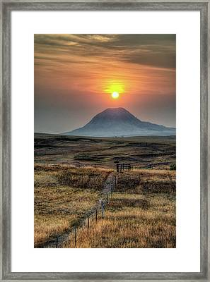 Bear Butte Smoke Framed Print