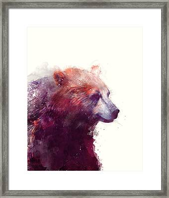 Bear // Calm Framed Print by Amy Hamilton