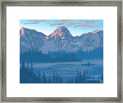 Bear Country Scenic Landscape Framed Print by Sassan Filsoof