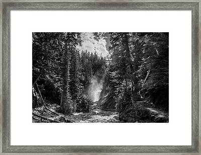 Bear Creek Falls As Well Framed Print