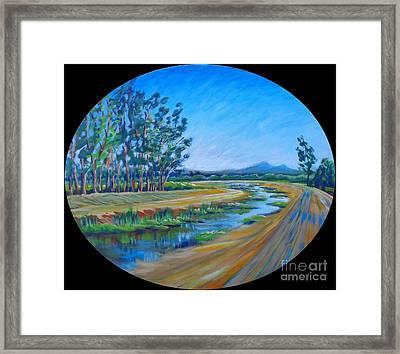 Bear Creek, Summertime Framed Print by Vanessa Hadady BFA MA