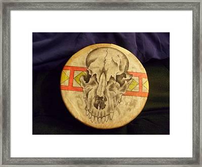 Bear Drum Framed Print by Angelina Benson